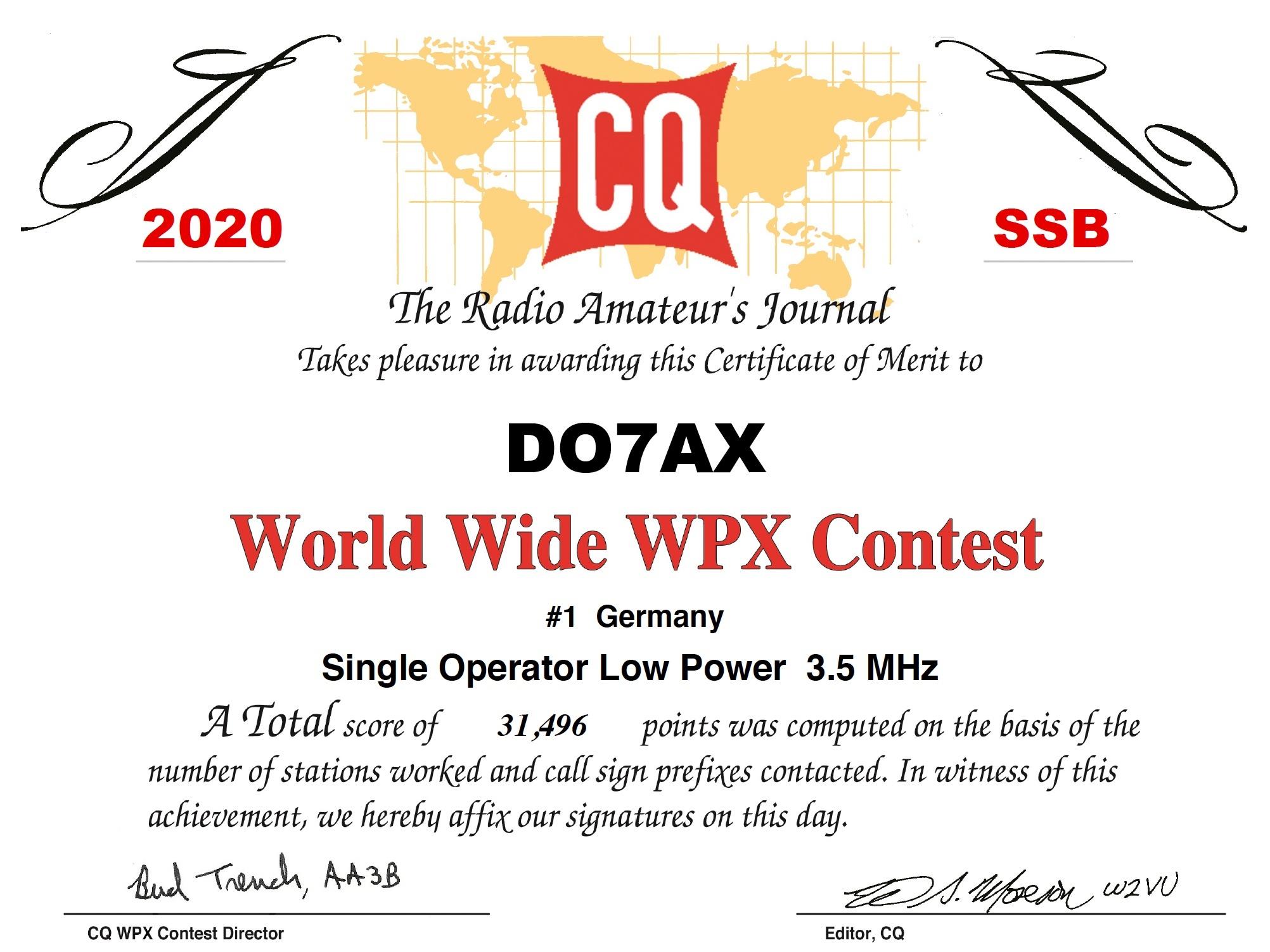 DO7AX_CQWPX_2020_SSB_certificate