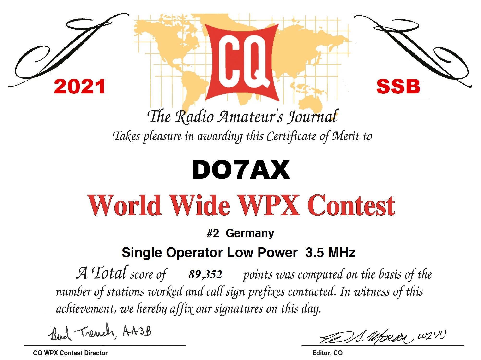 DO7AX_CQWPX_2021_SSB_certificate